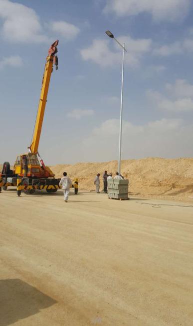 【工程案例】:埃及—650套12米170W亮化工程路灯